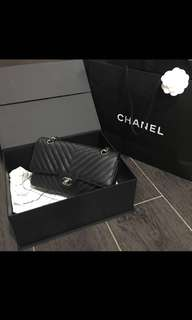 Chanel chrevon flap bag