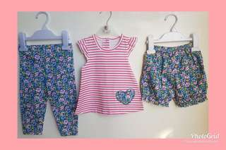 Floral Collection pack of 3pcs