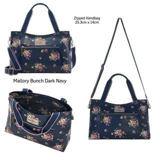 MALLORY BUNCH ZIPPED HANDBAG WITH DETACHABLE STRAP
