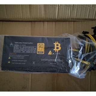 1600w mining power supply /psu/ support 6x gpu