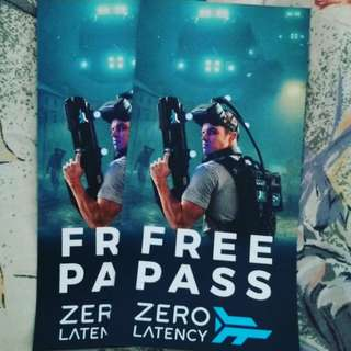 A pair of Zero Latency VR Game passes
