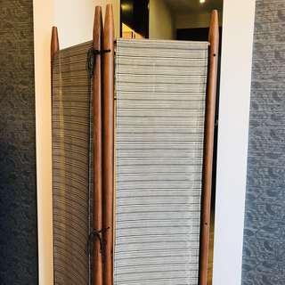 實木經典實木柱屏風一對