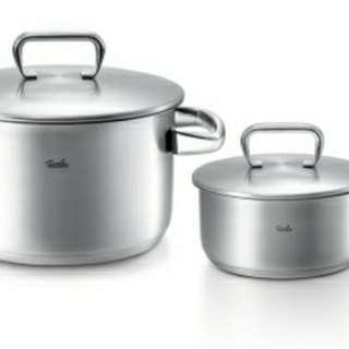 Fissler Korsika 德國牌子一套 24cm不銹鋼煲連16cm 不銹鋼鍋