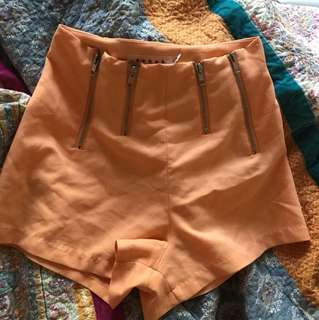 High waisted festival shorts