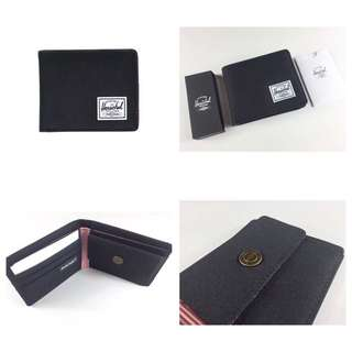 [INSTOCK] HERSCHEL SUPPLY ROY BIFOLD WALLET (BLACK) - COIN POUCH