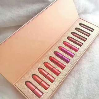 雪花MAC聖誕節限量十二色唇膏小樣套裝禮盒