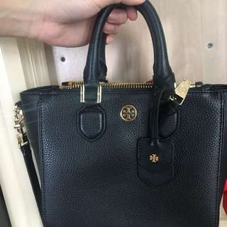Tory burch Robinson pebbled mini satchel