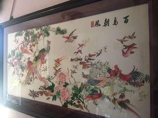 湘繡 百鳥朝鳳圖