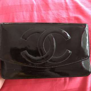 Authentic Vintage Chanel Wallet Patent leather