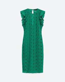 Zara Green Guipure Dress (size S)