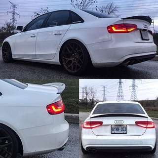 Audi B8 S4 High Kick Boot Lip Spoiler