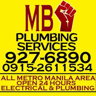 MB PLUMBING AND ELECTRICAL SERVICES ALL METRO MANILA AREAS