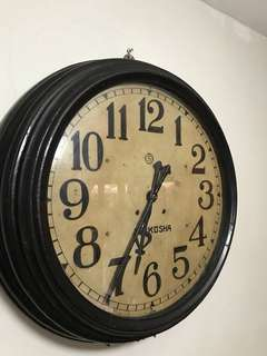 Vintage railroad station wall clock , SEIKOSHA ( not for sale )