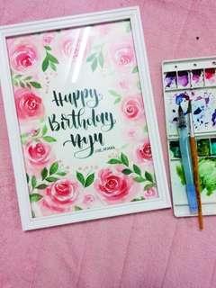 Calligraphy Handlettering Watercolor