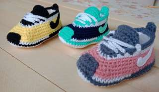 NIKE Inspired Crochet Baby Shoes