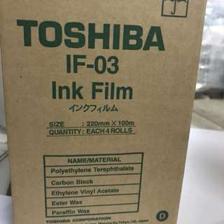 Toshiba IF-03 Ink Film