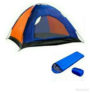 Tent and Sleeping bag Combo