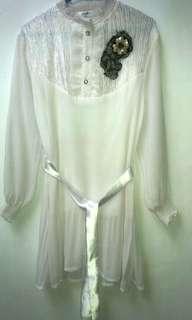 Baju Wanita Lengan Panjang Plisket