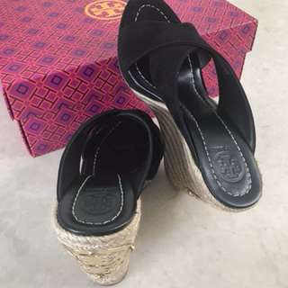 Tory Burch lady wedge shoes size US6