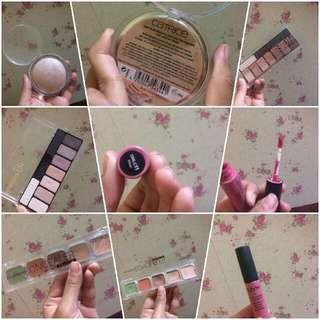 Highlighter eyeshadow lipcream concealer