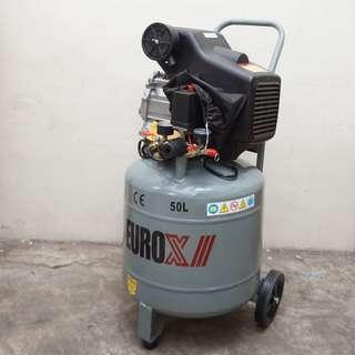 Euro X Air Compressor 50 Litre 3hp 50L  Eurox 8 Bar Pressure EAX9050