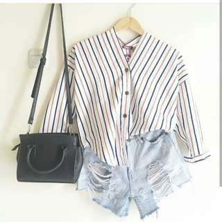 Zara look a like V stripe top