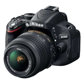 Nikon D5100 with 18-55mm lens (NO NEGOTIATION)