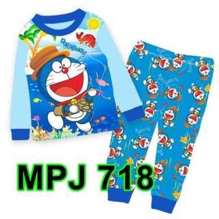 Doeramon Long Sleeve Pyjamas For (2 Yrs To 7 Yrs)