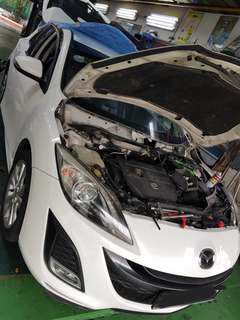 Mazda cooling coil replacement