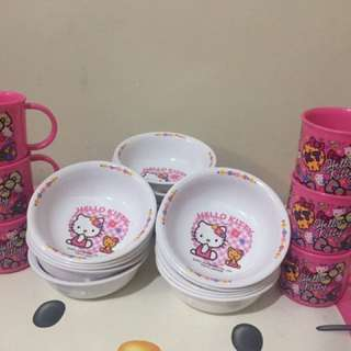 Hello kitty assorted 16 pcs. Bowls & 6 pcs. Mugs