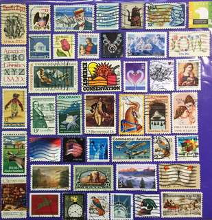 44 pcs USA Used Stamps