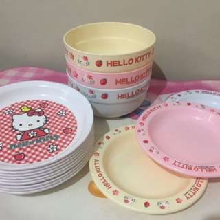 Hello kitty bowls& plate from Japan