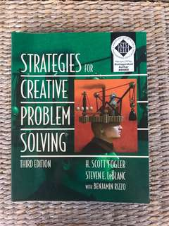 Strategies for creative problem solving text book