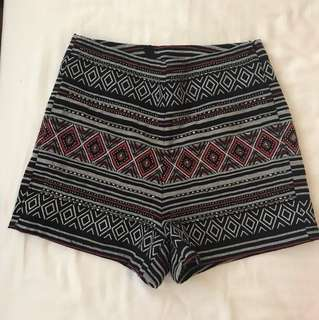 #FEB50 H&M high waisted Boho Shorts