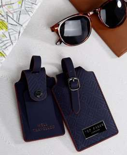 全新 禮盒 Ted Baker Luggage Tag Set 行李牌套裝