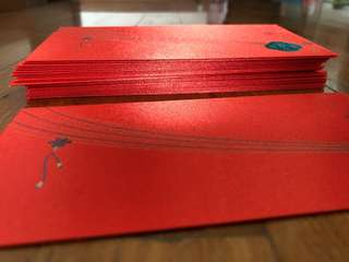 Red Packet Paper CIC bank thick satin finish