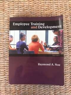 Employee training and development text book