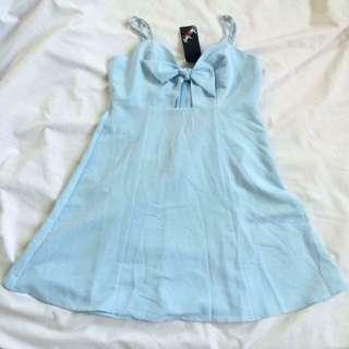 Powder Blue Skater Dress