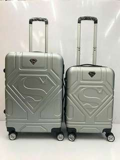 Superman logo luggage