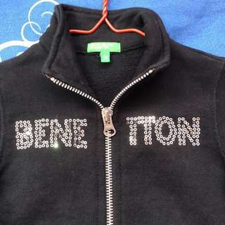 United Colours of Benetton black baby girl jacket