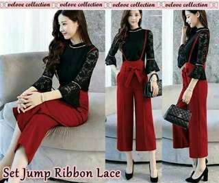 Set jump ribbon lace