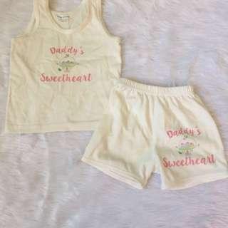 Baby sando & shorts set 3-6 months