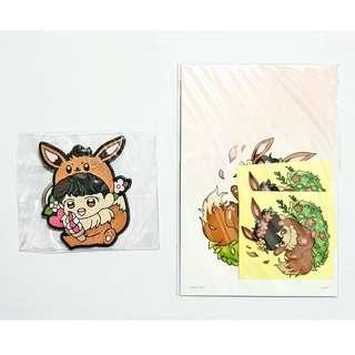 Infinite Sungyeol Fanart Keychain + EMW stickers