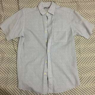 UniQlo Polo with Circle Patterns [White]