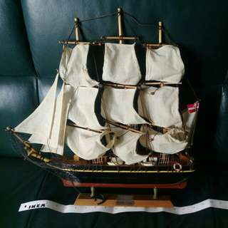 Wood sailboat decoration 木製帆船
