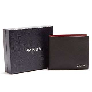 PRADA  saffiano leather wallet 銀包錢包