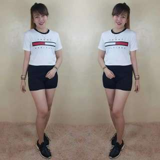 tommy top and short terno