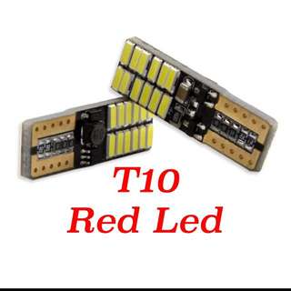 T10 red led x 2