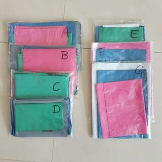 mixed sizes/colours polymailers packs