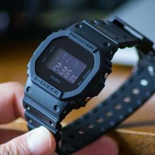 BNIB 100% Authentic Casio Gshock Dark Knight Stealth Black DW5600BB Square Series DW5600 FREE DELIVERY Unisex